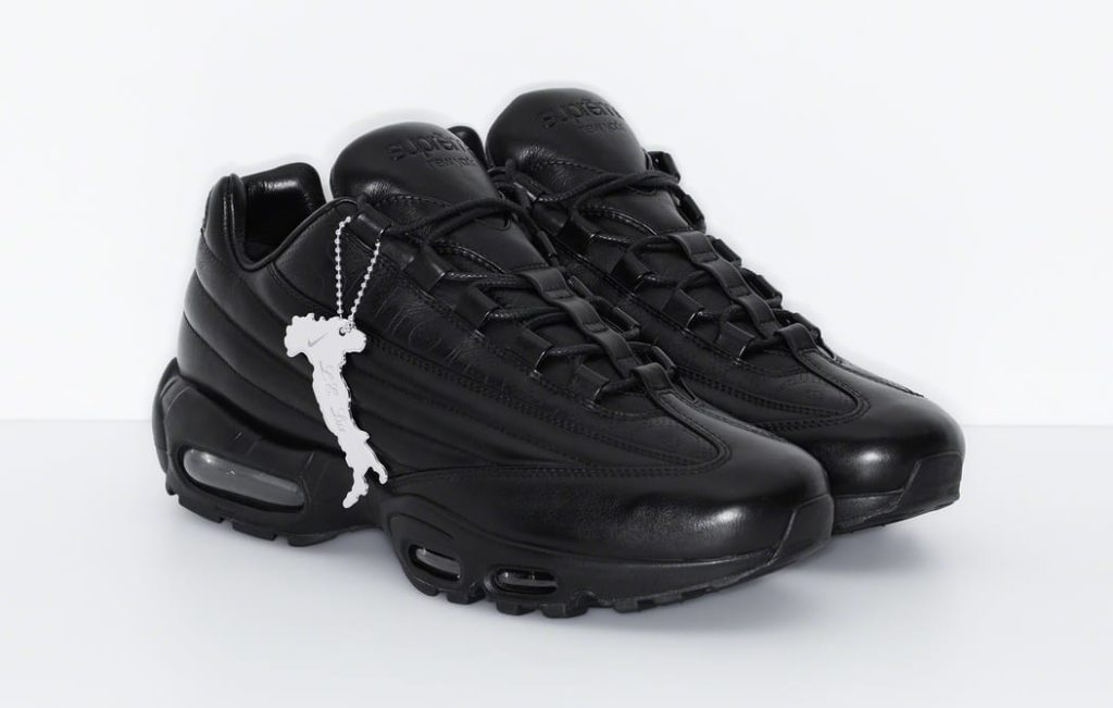 supreme nike air max 95 lux black front
