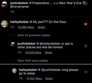 hailey bieber scolds justin to go to sleep insta embed 1