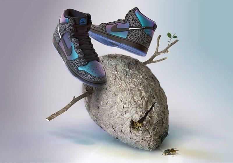 "Nike SB apresenta Dunk High ""Black Hornet"" para o NBA All-Star Game Foto 1"