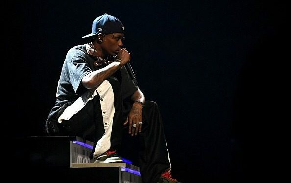 LOS ANGELES, CA - FEBRUARY 10:  Travis Scott performs onstage during the 61st Annual GRAMMY Awards at Staples Center on February 10, 2019 in Los Angeles, California.  (Photo by Emma McIntyre/Getty Images for The Recording Academy)