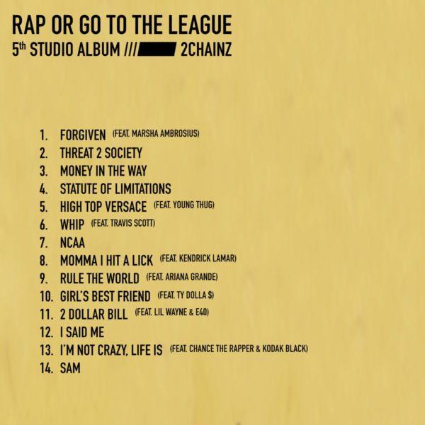 "2 Chainz lança álbum 'Rap Or Go To The League"" com Kendrick Lamar, Travis Scott, Lil Wayne e mais Foto 2"