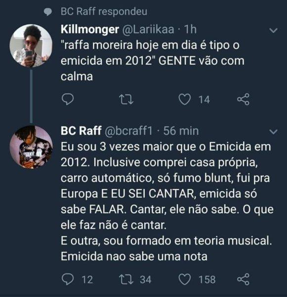 """Raffa Moreira supostamente ataca Emicida: """"Sou 3 vezes maior que o Emicida de 2012"""" 2"""
