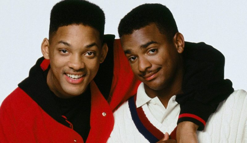THE FRESH PRINCE OF BEL-AIR -- Season 4 -- Pictured: (l-r) Will Smith as William 'Will' Smith; Alfonso Ribeiro as Carlton Banks  (Photo by Chris Haston/NBC/NBCU Photo Bank via Getty Images)