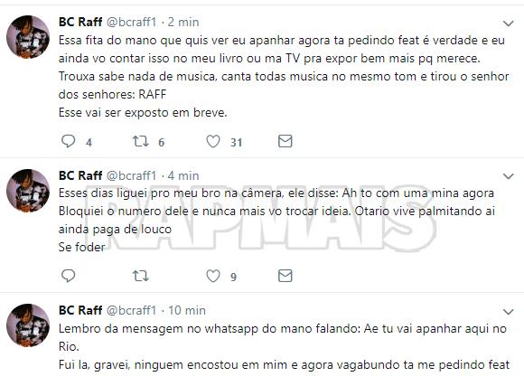Raffa Moreira diz que não fará shows no Rio de Janeiro por culpa do Portal Rap Mais 4