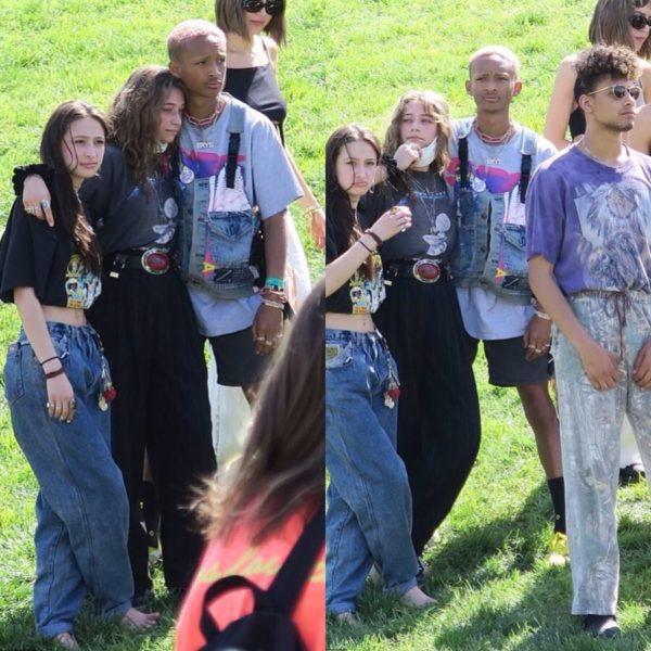Jaden é visto com ex-namorada Odessa após beijar mulher misteriosa no Coachella Foto 2