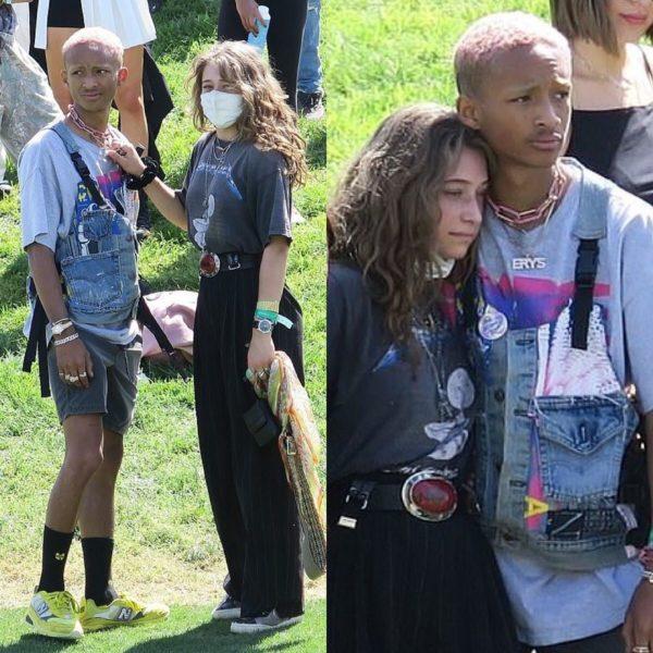 Jaden é visto com ex-namorada Odessa após beijar mulher misteriosa no Coachella Foto 3