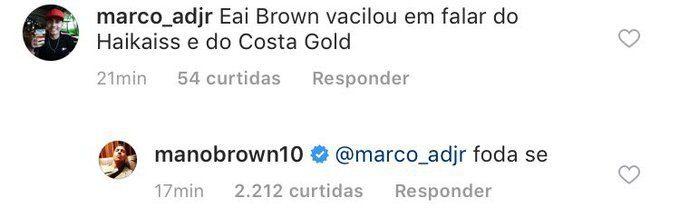 Jovem questiona Mano Brown por comentário sobre o Costa Gold e Haikaiss e recebe resposta direta Foto 1
