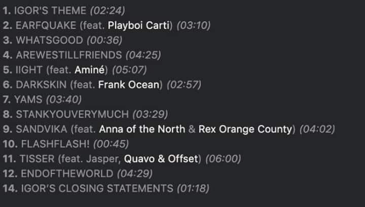 Novo álbum de Tyler The Creator deve ter Frank Ocean, Quavo, Offset, Playboi Carti e mais 2