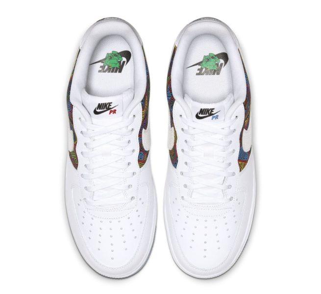 """Nike Air Force 1 Low """"Porto Rico"""" com belos mosaicos coloridos será lançado Foto 2"""
