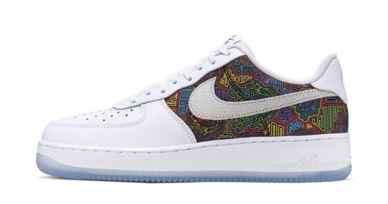 """Nike Air Force 1 Low """"Porto Rico"""" com belos mosaicos coloridos será lançado Foto 3"""