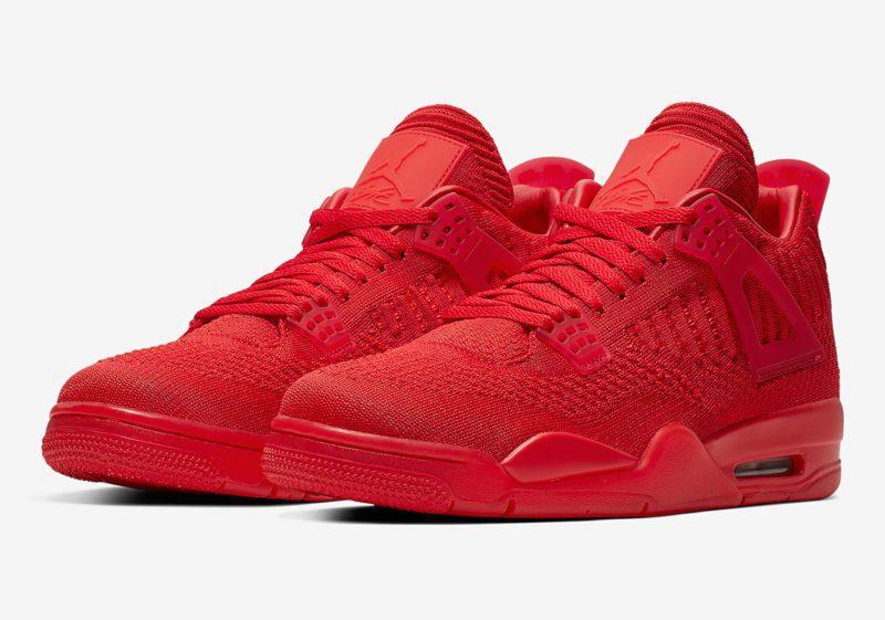 """Nike Air Jordan 4 Flyknit """"Red"""" será lançado nesta sexta 1"""