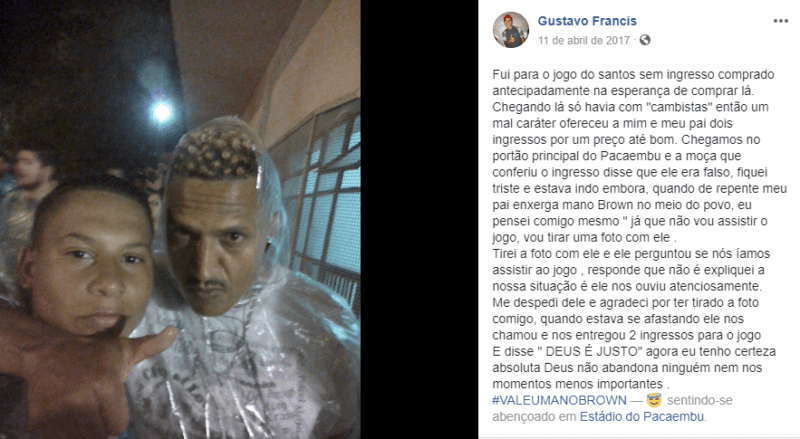Boa ação de Mano Brown feita em 2017 viraliza na internet Foto 1