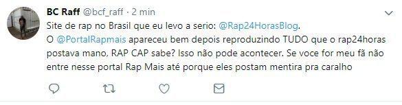 Raffa Moreira se irrita e ataca Portal Rap Mais nas redes sociais 1