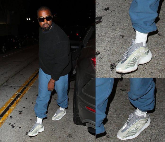 Kanye West aparece usando tênis Adidas
