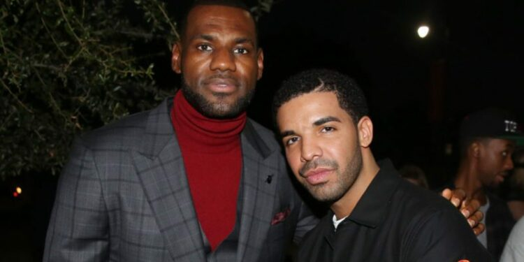 """IMAGE DISTRIBUTED FOR STARZ ENTERTAINMENT - LeBron James, left, and Drake pose together at the premiere of the STARZ original series """"SurvivorÌs Remorse"""" on Tuesday, Sept. 23, 2014 in Los Angeles. """"SurvivorÌs Remorse"""" premieres Saturday, Oct. 4 exclusively on STARZ . (Photo by Matt Sayles/Invision for STARZ EntertainmentAP Images) ORG XMIT: INVL"""