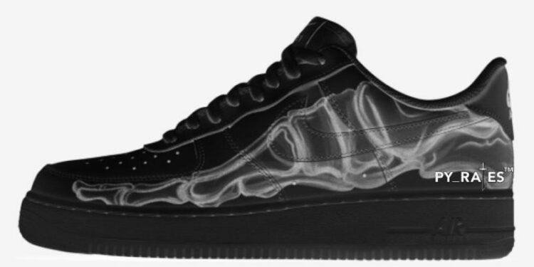 Nike Air Force 1 Low Black Skeleton Release Date