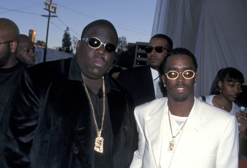 """Christopher """"Notorious B.I.G."""" Wallace and Sean """"P. Diddy"""" Combs at the Shrine Auditorium in Los Angeles, California (Photo by Jim Smeal/WireImage)"""