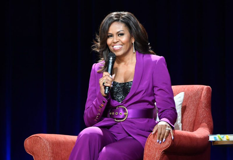 ATLANTA, GEORGIA - MAY 11:  Former First Lady Michelle Obama attends 'Becoming: An Intimate Conversation with Michelle Obama' at State Farm Arena on May 11, 2019 in Atlanta, Georgia. (Photo by Paras Griffin/Getty Images)