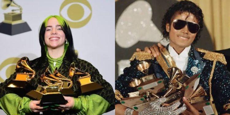 Billie Eilish é comparada a Michael Jackson após vitórias no Grammy