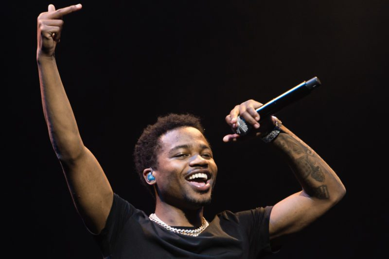 Mandatory Credit: Photo by Richard Isaac/Shutterstock (10153579g) Roddy Ricch Roddy Ricch in concert at The O2 Arena in London, UK - 13 Mar 2019
