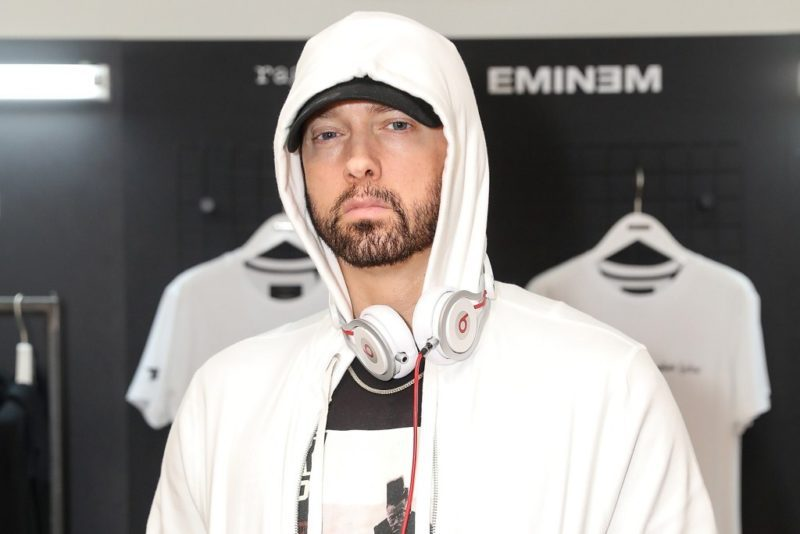LONDON, ENGLAND - JULY 13: Eminem attends the rag & bone X Eminem London Pop-Up Opening on July 13, 2018 in London, England.  (Photo by David M. Benett/Dave Benett/Getty Images for Rag & Bone)
