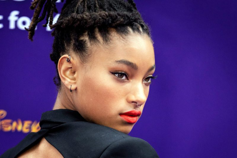 Mandatory Credit: Photo by ETIENNE LAURENT/EPA-EFE/Shutterstock (10243210w) Willow Smith poses on the red carpet during Disney's 'Aladdin' movie premiere at the El Capitan Theatre in Hollywood, California, USA, 21 May 2019. The movie opens in US theaters on 24 May 2019. Premiere of Disney's Aladdin at the El Capitan Theater in Hollywood, USA - 21 May 2019