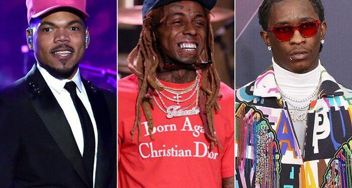 chance the rapper young thug lil wayne