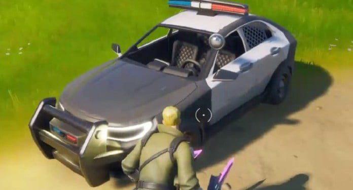 carro policia fortnite