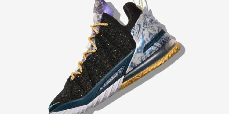 nike lebron 18 reflections lateral scaled 1