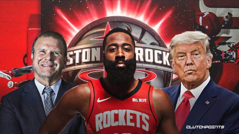 Rockets James Harden Donald Trump