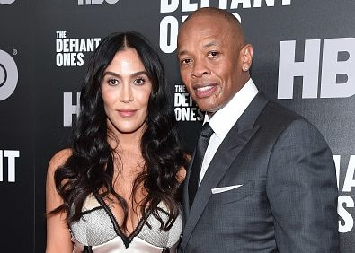 """NEW YORK, NY - JUNE 27:  Nicole Young and Dr. Dre attend """"The Defiant Ones""""  premiere at Time Warner Center on June 27, 2017 in New York City.  (Photo by Michael Loccisano/Getty Images)"""