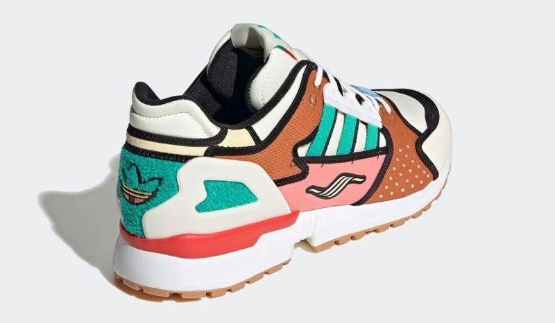 the simpsons adidas zx 10000 krusty burger h05783 heel