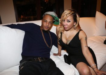 MIAMI BEACH, FL - DECEMBER 31:  (L-R) T.I. and Tameka 'Tiny' Harris attend Sean Diddy Combs Ciroc The New Years Eve Party at his home on December 31, 2013 in Miami Beach, Florida.  (Photo by Johnny Nunez/WireImage)