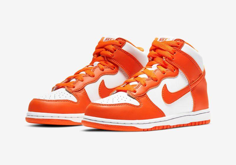 Nike Dunk High Syracuse White Orange Blaze 01