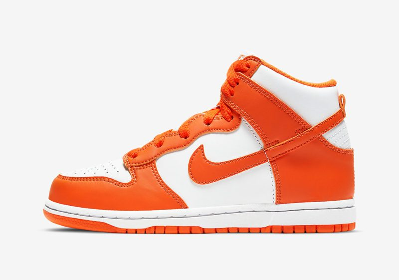 Nike Dunk High Syracuse White Orange Blaze Little Kids DD2314 100 Release Date 1