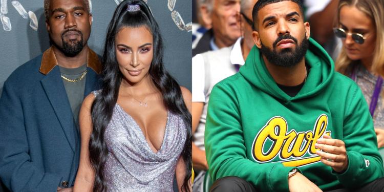 Kanye West Kim Kardashian Drake