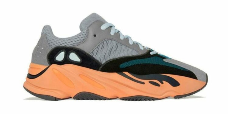 adidas yeezy boost 700 warm orange lateral mock up