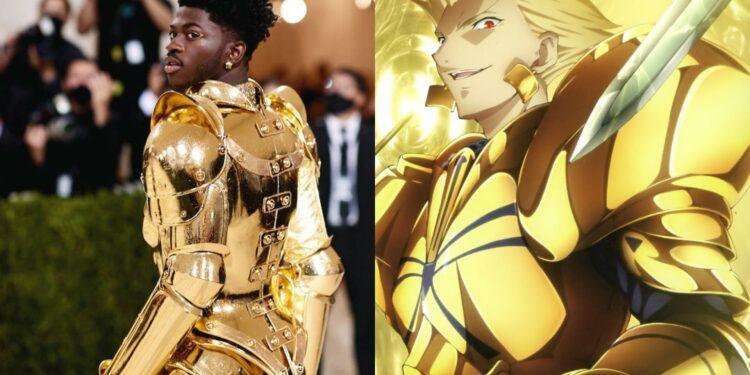 Lil Nas X Gilgamesh fate stay night anime Met Gala armor explained