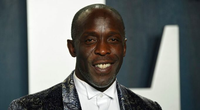 Michael K. Williams arrives at the Vanity Fair Oscar Party on Sunday, Feb. 9, 2020, in Beverly Hills, Calif. (Photo by Evan Agostini/Invision/AP)